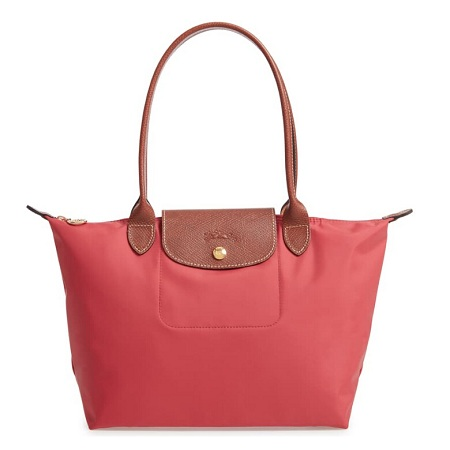LONGCHAMP 'Small Le Pliage'橙色饺子包