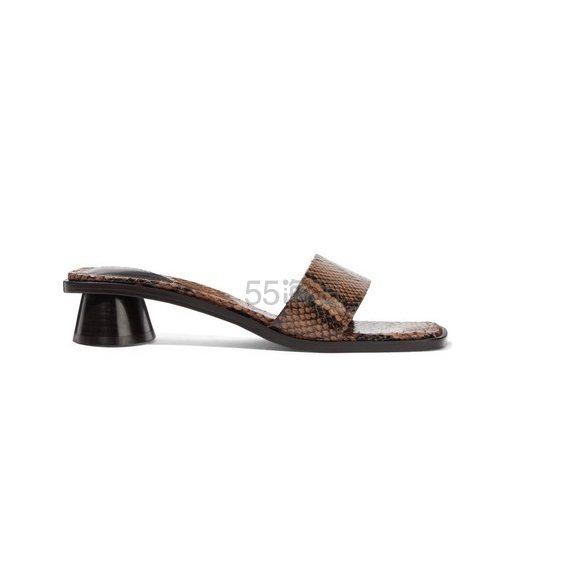 BY FAR Sonia 仿蛇纹皮革穆勒鞋 £150(约1,275元) - 海淘优惠海淘折扣 55海淘网