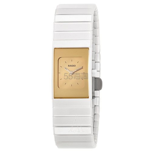 Rado 雷达表 Ceramica 系列 白金女士陶瓷腕表 R21710252 9(约2,457元) - 海淘优惠海淘折扣|55海淘网