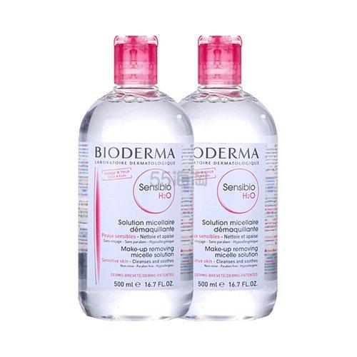 【双11预售】【返利2.88%】Bioderma 贝德玛 粉水/舒妍多效洁肤液 500ml*2