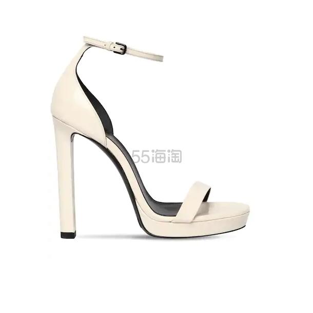 SAINT LAURENT 白色露趾高跟鞋 7.5(约3,141元) - 海淘优惠海淘折扣|55海淘网
