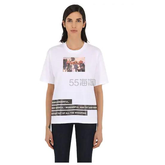 BURBERRY 印花白色短袖 0(约1,825元) - 海淘优惠海淘折扣 55海淘网