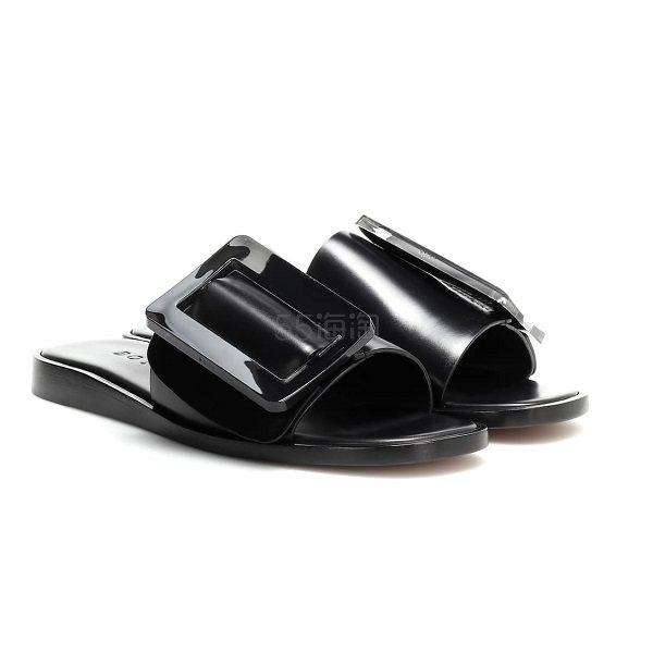 BOYY Buckle 全黑方片拖鞋 €243(约1,899元) - 海淘优惠海淘折扣|55海淘网