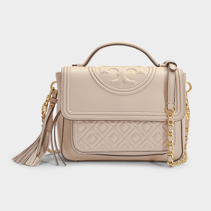 Tory Burch Fleming Satchel 流苏单肩包