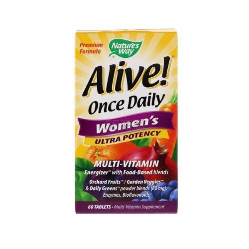 【3件0税免邮】Natures Way Alive! 女性每日复合维生素营养片 60片 .13(约114元) - 海淘优惠海淘折扣|55海淘网