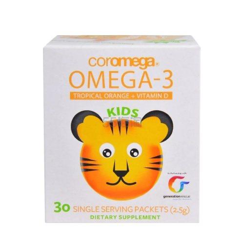 【额外8折】Coromega Omega-3 儿童维生素D 2.5g*30包 .67(约82元) - 海淘优惠海淘折扣|55海淘网