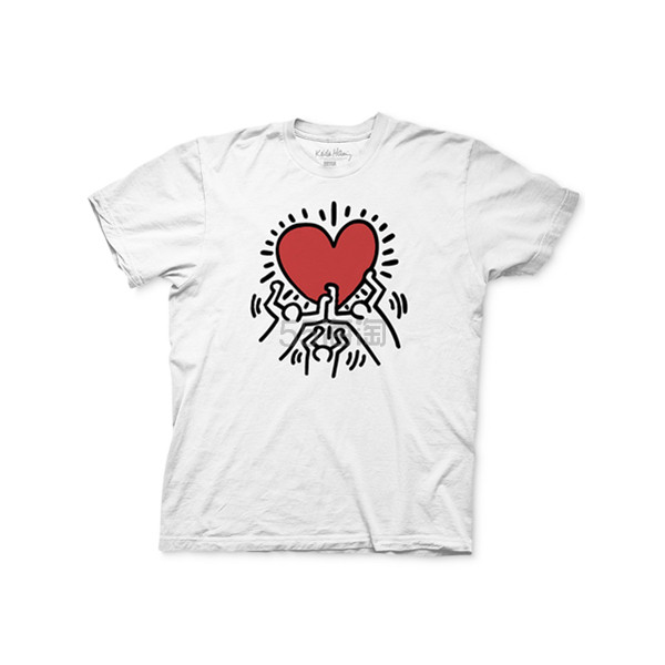 Ripple Junction 艺术印花 Keith Haring 男士短袖 T恤 .99(约91元) - 海淘优惠海淘折扣|55海淘网