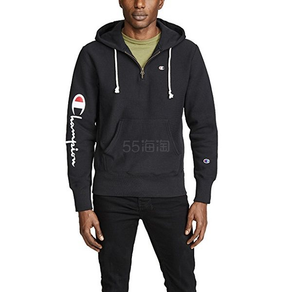 Champion 冠军 Premium Reverse Weave 半拉链式卫衣 (约408元) - 海淘优惠海淘折扣|55海淘网