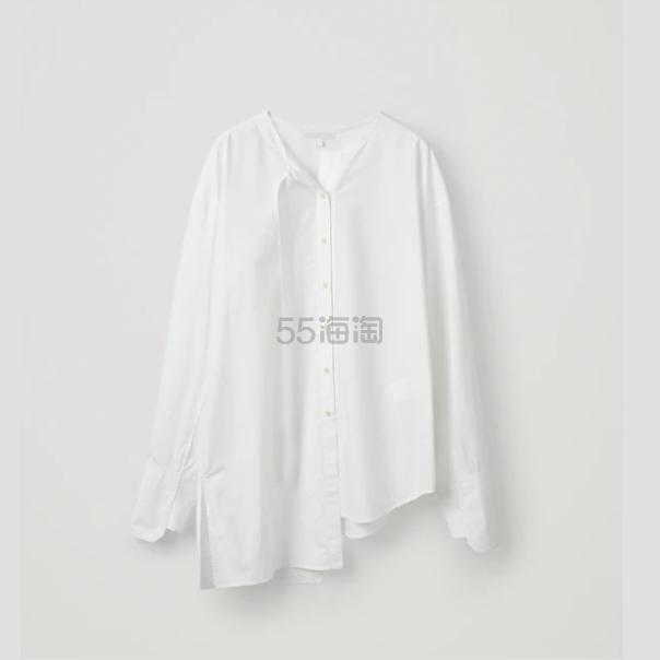 COS 不对称白色衬衫 (约355元) - 海淘优惠海淘折扣|55海淘网