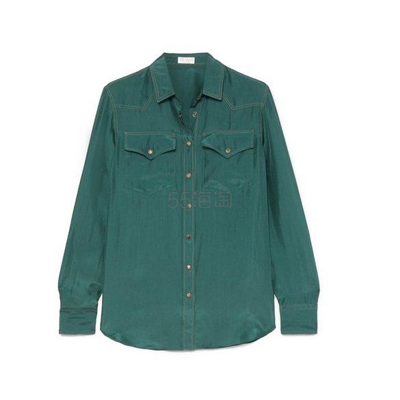 BRUNELLO CUCINELLI 水洗真丝衬衫 £460(约3,933元) - 海淘优惠海淘折扣|55海淘网