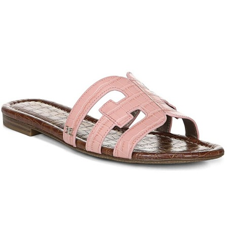 SAM EDELMAN Bay Cutout Slide Sandal 粉色凉拖鞋