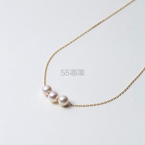 【新人减400日元】Maria 6mm阿古屋海水珍珠K18金链 三颗珠 42cm 10,486日元(约695元) - 海淘优惠海淘折扣|55海淘网