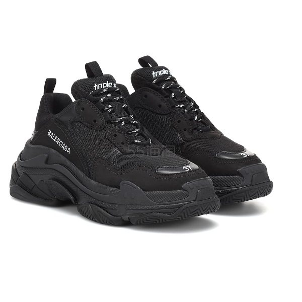 BALENCIAGA 巴黎世家 TRIPLE S 黑色运动鞋 €526.5(约4,127元) - 海淘优惠海淘折扣|55海淘网