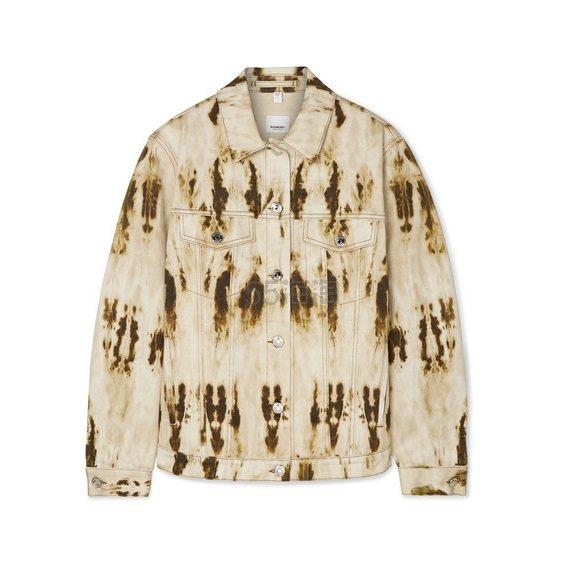 BURBERRY 皮革边饰漂白牛仔夹克 £750(约6,430元) - 海淘优惠海淘折扣|55海淘网
