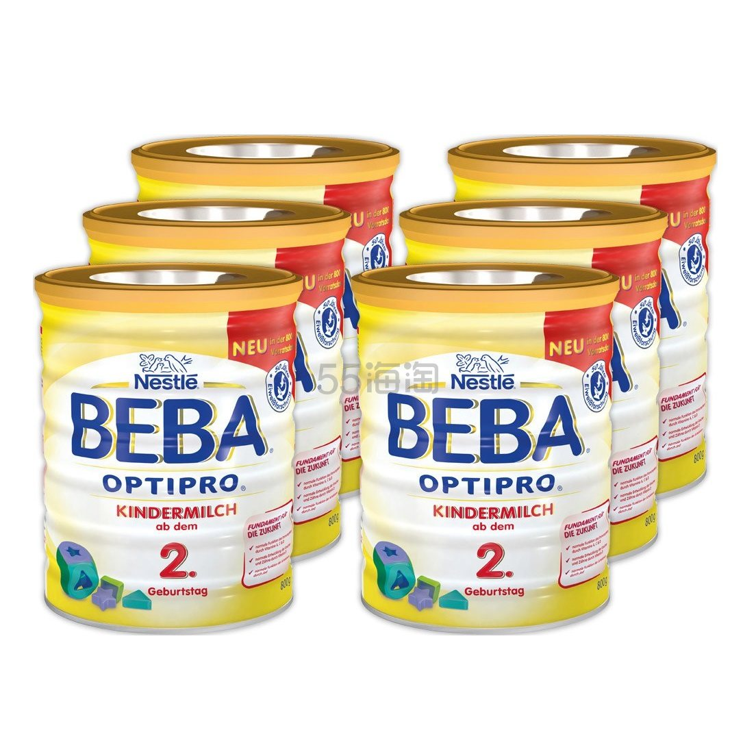 Nestle 雀巢 Beba 贝巴 Optipro 超级能恩婴幼儿奶粉 1段 800g*6罐 €67.07(约526元) - 海淘优惠海淘折扣|55海淘网