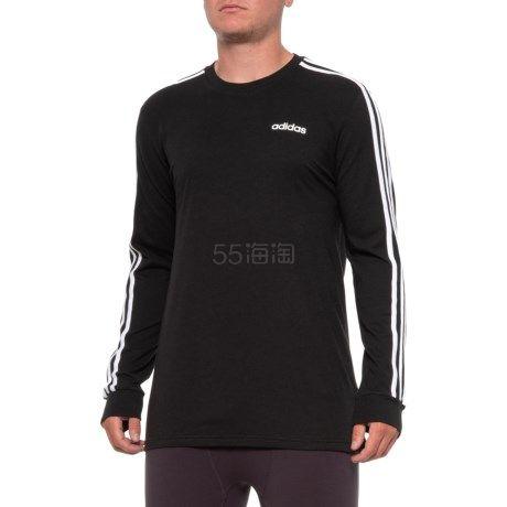 码全!adidas 阿迪达斯 3-Stripe 男士棉质长袖T恤