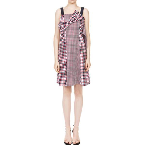 GREENISH PINK 背带格纹连衣裙 凑两件享7折后¥461.3 - 海淘优惠海淘折扣|55海淘网