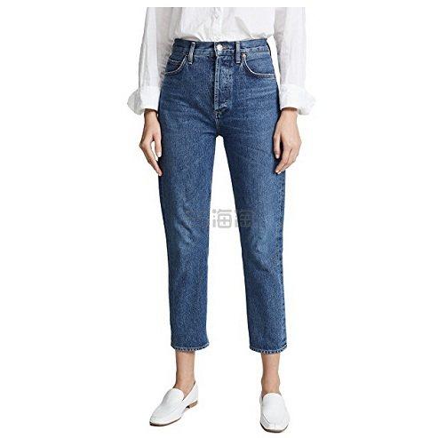 再度补货上架~AGOLDE Riley 高腰直脚九分牛仔裤 8(约1,192元) - 海淘优惠海淘折扣|55海淘网
