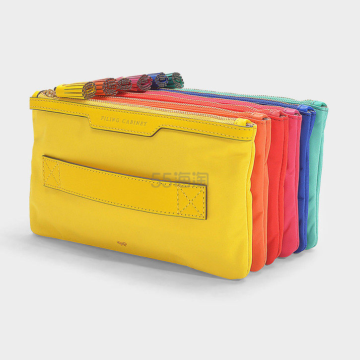 Anya Hindmarch Filing Cabinet 彩虹风琴多层折叠手提包 0(约1,915元) - 海淘优惠海淘折扣 55海淘网