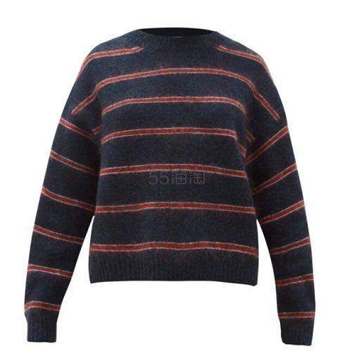 ACNE STUDIOS  Khira 条纹毛衣 €249(约1,947元) - 海淘优惠海淘折扣|55海淘网