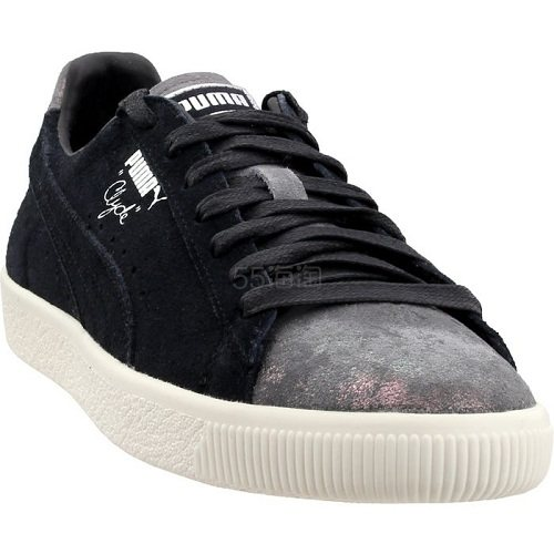 Puma 彪马 Clyde Frosted 黑色绒面运动鞋 .95(约178元) - 海淘优惠海淘折扣|55海淘网