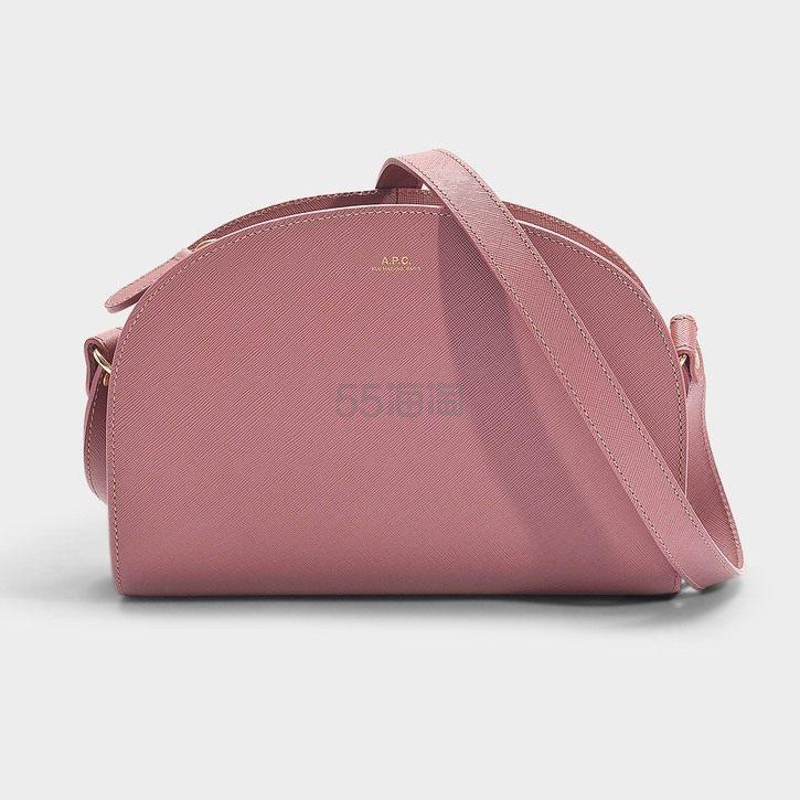 A.P.C. DEMI-LUNE 温柔玫瑰粉色半月包 1(约2,084元) - 海淘优惠海淘折扣|55海淘网