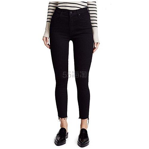 领了8折码可以买ta~MOTHER The Stunner 交叠裤脚九分牛仔裤