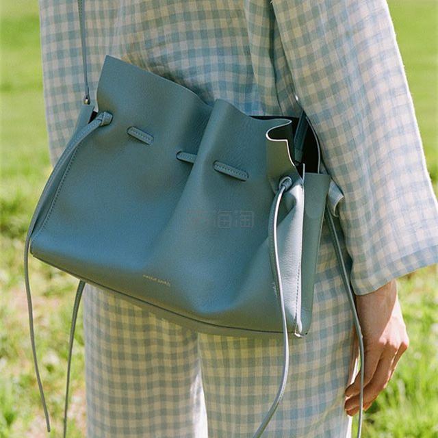 Mansur Gavriel  Mini Soft 灰蓝色抽绳单肩包 7(约2,127元) - 海淘优惠海淘折扣 55海淘网