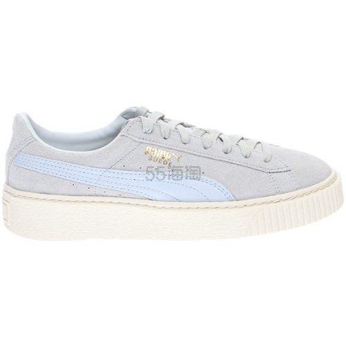 Puma 彪马 Suede 灰色厚底鞋 .95(约358元) - 海淘优惠海淘折扣|55海淘网
