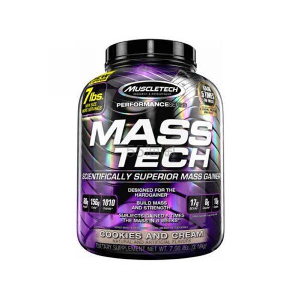 【包税直邮】MuscleTech Mass Tech 肌肉科技增肌增重乳清蛋白粉 饼干奶油味 3.18kg ¥350 - 海淘优惠海淘折扣|55海淘网