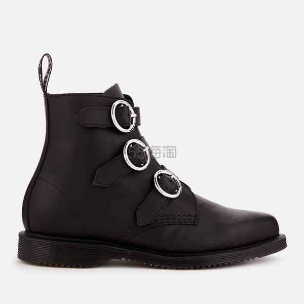 【UK4码 一双免邮】Dr. Martens 女士搭扣马丁靴