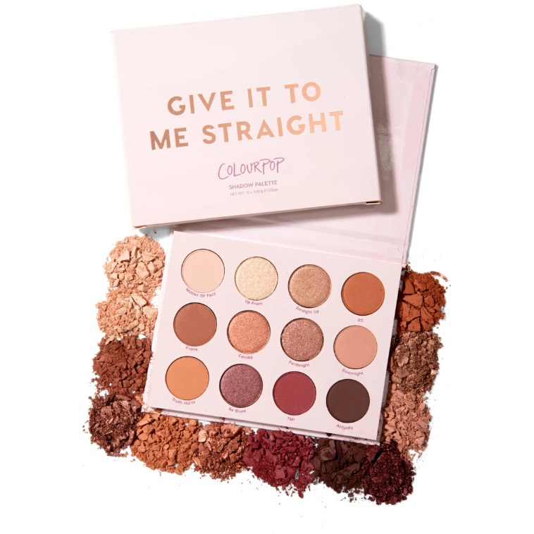 Colourpop 十二色眼影盘 give it to me straight