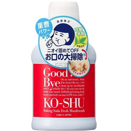 新品!【日亚自营】石泽研究所 小苏打 绿茶清洁口腔漱口水 200ml