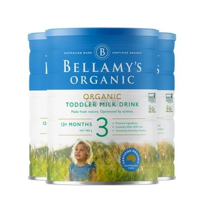 【55专享】Bellamys 贝拉米有机婴幼儿奶粉 3段 900g 120澳币(约578元) - 海淘优惠海淘折扣|55海淘网