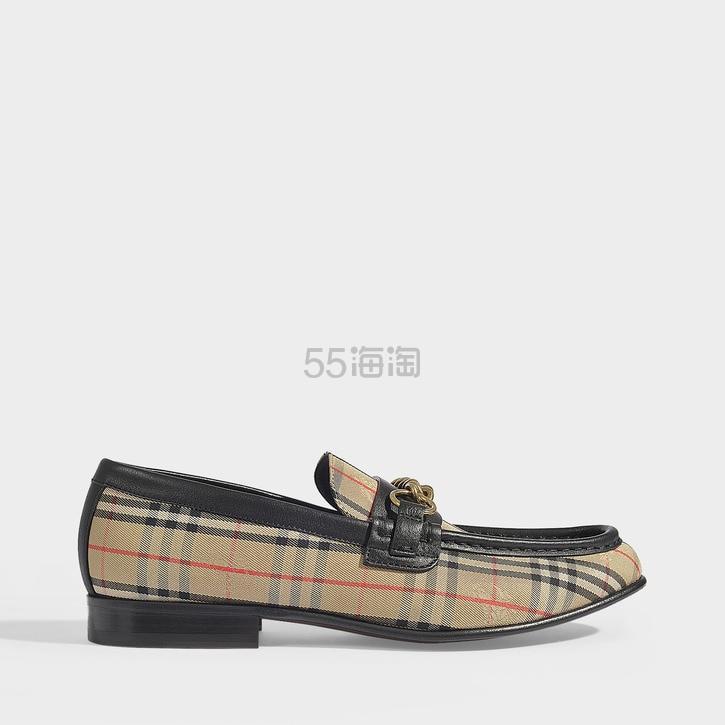 Burberry Moorley 格纹链条乐福鞋 0(约2,225元) - 海淘优惠海淘折扣|55海淘网