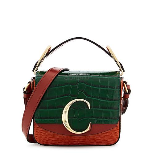 Chloé C mini 拼色单肩包 ,125(约8,039元) - 海淘优惠海淘折扣|55海淘网