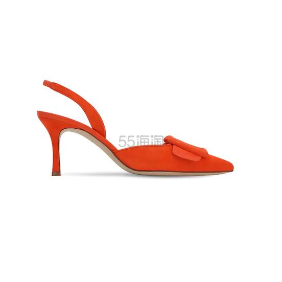 MANOLO BLAHNIK 70毫米MAYSLI麂皮露跟高跟鞋 1.75(约4,586元) - 海淘优惠海淘折扣|55海淘网