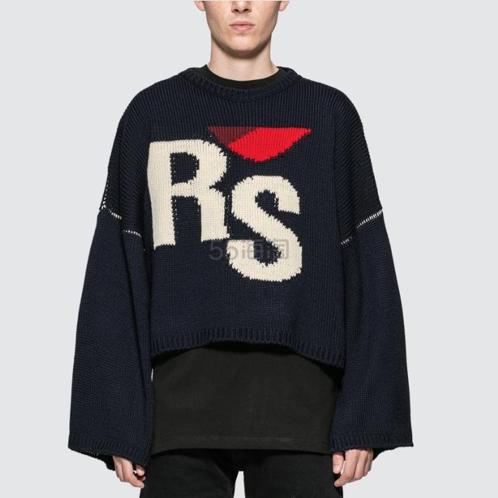 RAF SIMONS 短款黑色毛衣 0(约5,360元) - 海淘优惠海淘折扣|55海淘网