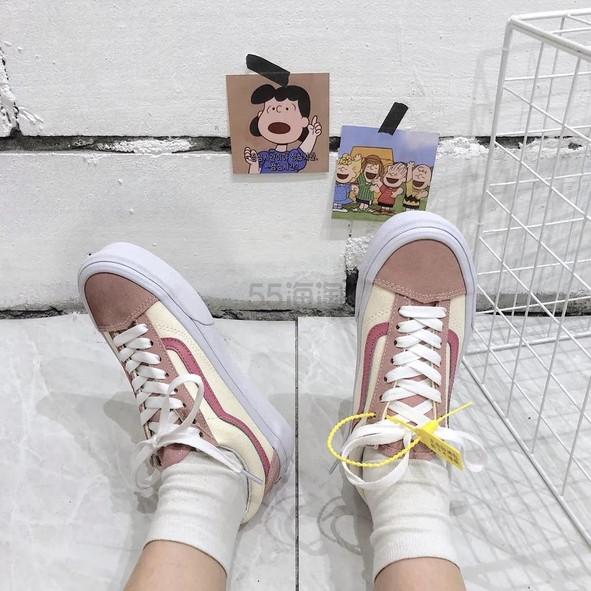 额外8.5折!黄金码有!Vans 万斯 style 36 粉拼复古板鞋 .99(约364元) - 海淘优惠海淘折扣|55海淘网