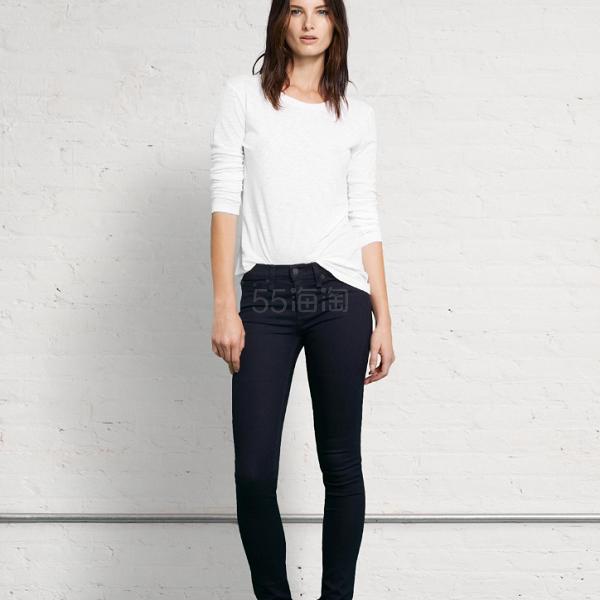 仅剩24码!Rag & Bone Mid Rise Jean 紧身牛仔裤 (约500元) - 海淘优惠海淘折扣 55海淘网