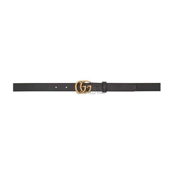 Gucci 黑色 GG 细款皮带 0(约2,490元) - 海淘优惠海淘折扣|55海淘网
