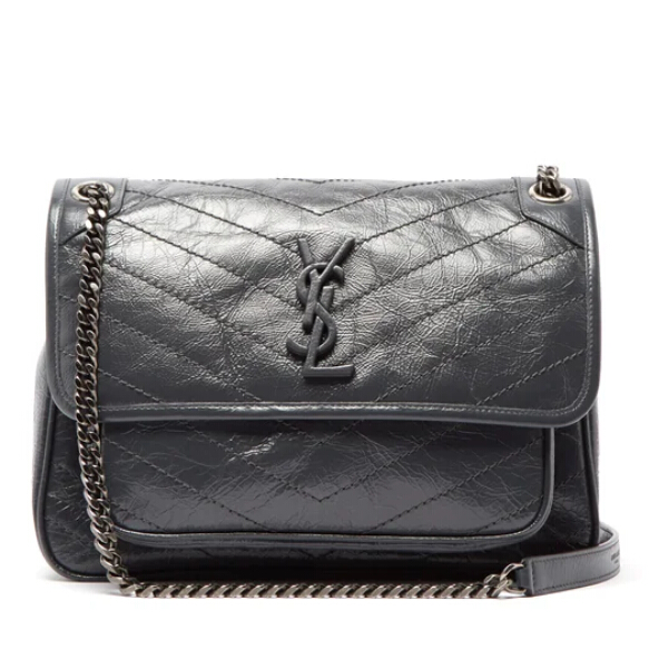 SAINT LAURENT Niki 灰色中号包包