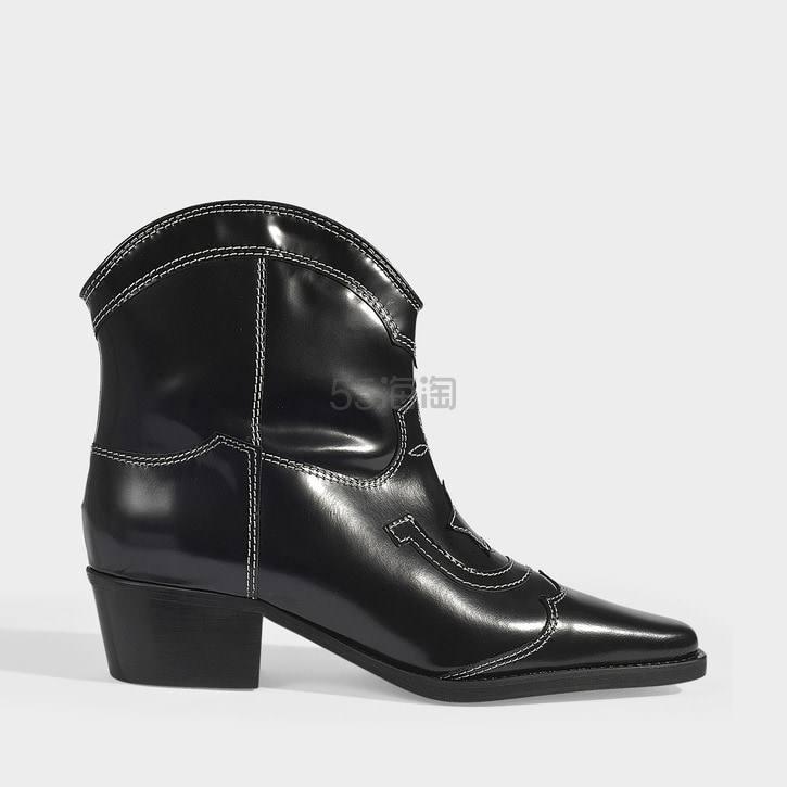 Ganni 低筒西部风中长靴 0(约1,921元) - 海淘优惠海淘折扣|55海淘网
