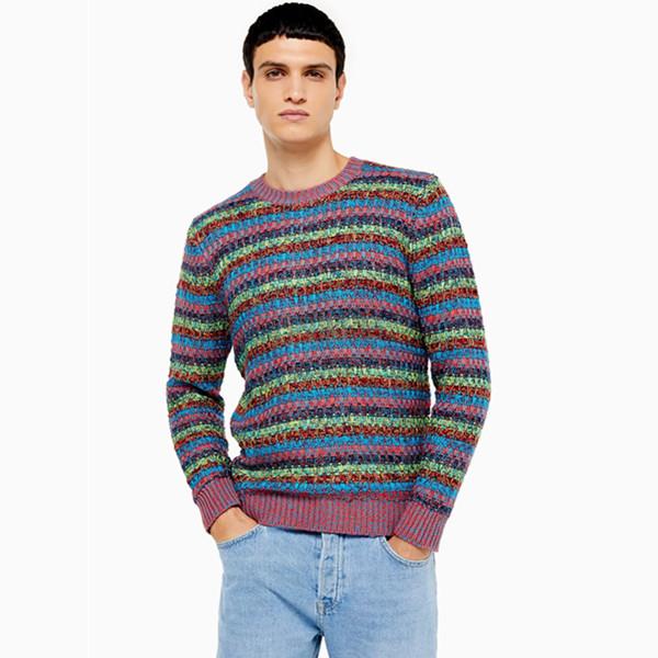 Topman 彩色拼色条纹针织毛衣 £10(约88元) - 海淘优惠海淘折扣|55海淘网