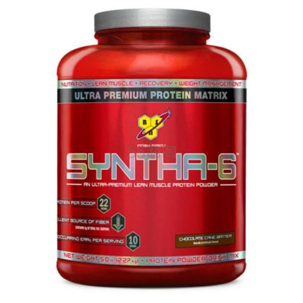 【送同品牌三合一运动健身能量补充剂】BSN Syntha-6 运动能量补充增肌健身乳清蛋白粉 2.27kg ¥350 - 海淘优惠海淘折扣|55海淘网