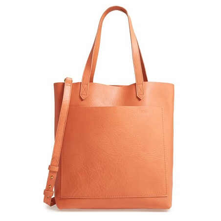 MADEWELL Medium Leather Transport Tote 中号包包