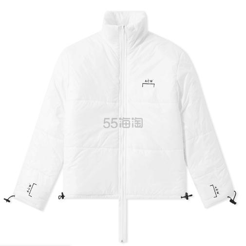 【Code Kunst 同款】A-COLD-WALL* 白色短款 Logo 棉服 £459(约4,031元) - 海淘优惠海淘折扣|55海淘网