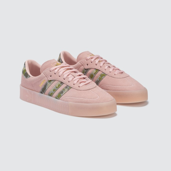 【新色】ADIDAS ORIGINALS Samba Rose 纹理皮革厚底运动鞋