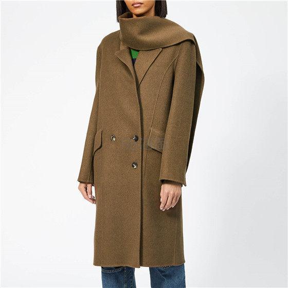 JW Anderson 羊毛围巾装饰中长款大衣 ¥2,838 - 海淘优惠海淘折扣|55海淘网