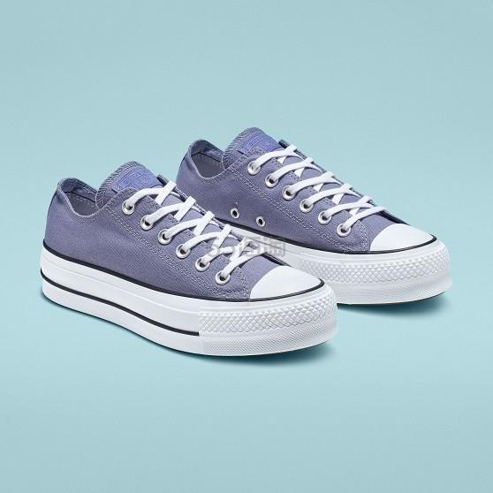 Converse 匡威 靛蓝色厚底帆布鞋 .5(约231元) - 海淘优惠海淘折扣|55海淘网